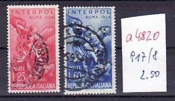 Italien  Nr.  917-8  o     ( a4820  ) siehe scan