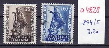 Italien  Nr.  894-5   o     ( a4828 ) siehe scan