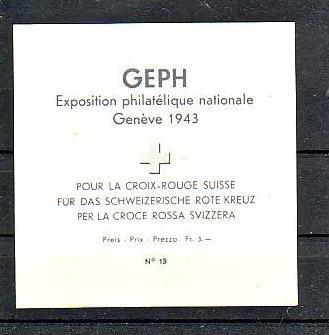 Schweiz  Block 10  **   ( p2884 ) siehe scan 1