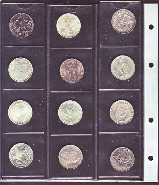 BRD  Lot  12  Sonder Münzen zu 5,- D.-Mark  ( x1378)sie scan !