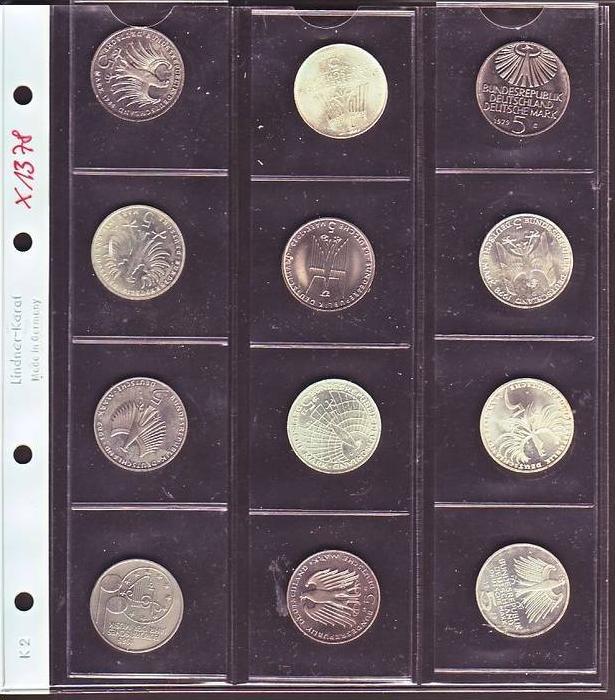 Brd Lot 12 Sonder Münzen Zu 5 D Mark X1378sie Scan Nr