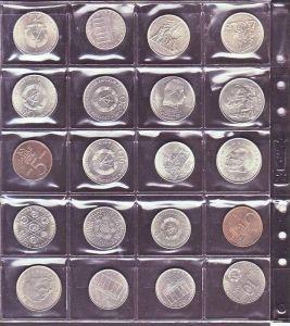 DDR  Lot  20  Münzen 5,10,20  Mark  (x1388 ) siehe scan