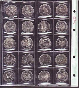 BRD -Lot von 20  x    5,- DM Stücke  (x1392) siehe scan