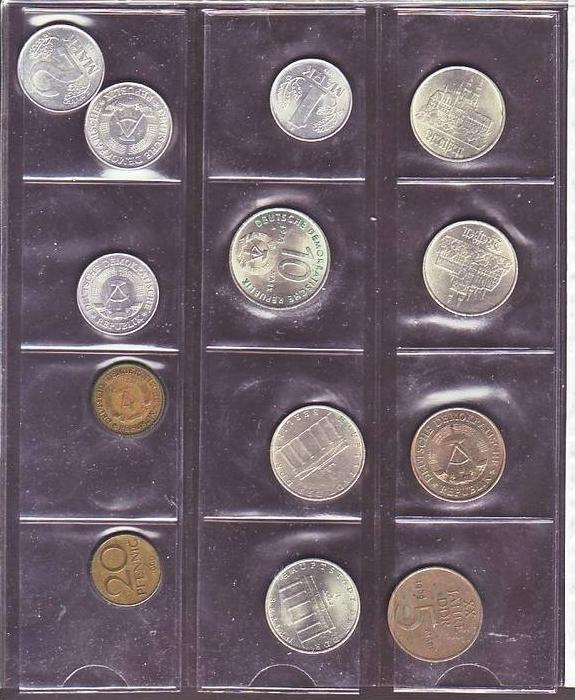(x1400 )DDR Münzen Lot  13 xdiverse  /siehe scan