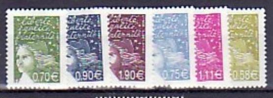 Frankreich  Nr.  6 Werte Mariannen     **(e6125 ) siehe scan