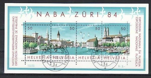 Schweiz Block  Zürich  1984   o  (zz775 ) siehe scan