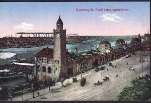 Alte Karte-Hamburg -St.Pauli   gebraucht (ba4537 ) siehe scan
