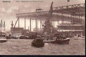 Alte Karte-Hamburg -Werft   gebraucht (ba4538 ) siehe scan