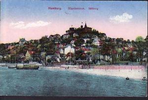 Alte Karte-Hamburg -Blankenese  gebraucht (ba4532 ) siehe scan