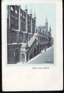 Alte Karte-Lübeck  gebraucht (ba4534 ) siehe scan