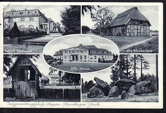 Alte Karte-  5 Bilder Karte Lüneburger Haide gebraucht (ba4515 ) siehe scan
