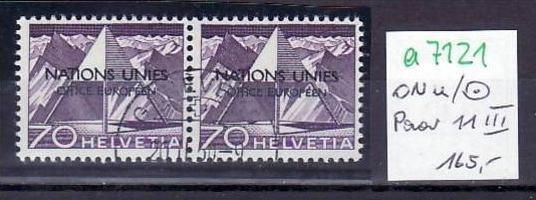 Schweiz  Nr.  ONU  Nr. 11/11  III  o  (a7121 ) siehe scan