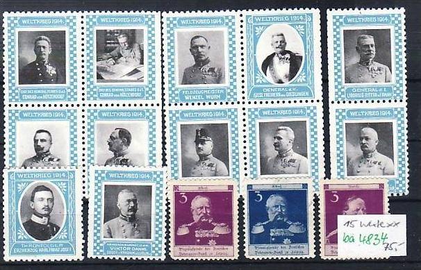 D.-Reich Lot Vignetten  1.Weltkrieg    (ba4834 ) siehe scan