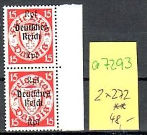 D.-Reich Nr. 2x 722  **  ( a7293 ) siehe scan