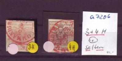 Österreich Nr. 3-4 H    o  (a7206 ) siehe scan
