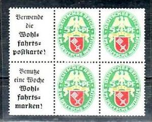 D.-Reich Zusammendruck   2x w34 * ( a7319  ) siehe scan