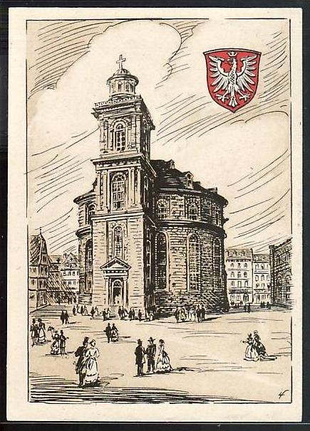 Zonen Karte Frankfurt  1948  (ba4726 ) siehe scan