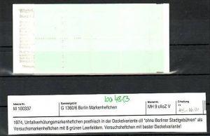 Berlin Versuchsmarken Heft  rar  !!!**   (ba4813 ) siehe scan