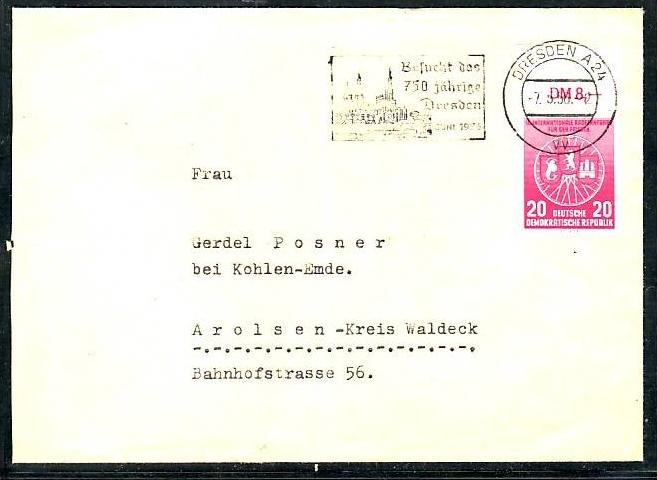 DDR  Sammler Beleg mit  522  I -bitte lesen    (ba4779 ) siehe scan