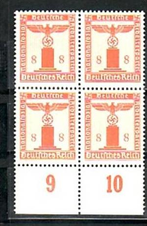D.-Reich  Nr. D 4x 160  **  ( a6971 ) siehe scan