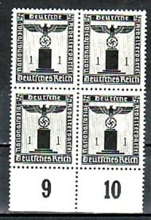 D.-Reich  Nr. D 4x 144 **  ( a6968 ) siehe scan