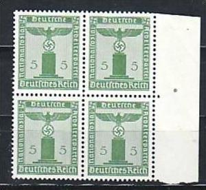 D.-Reich  Nr. D 4x 158 **  ( a6979 ) siehe scan