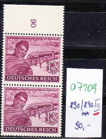 D.-Reich Nr.  890/890 III **  (a7109  ) siehe scan