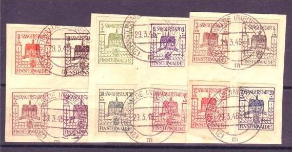 Finsterwalde  1-12 o-Briefstücke   (ba5042  ) siehe scan