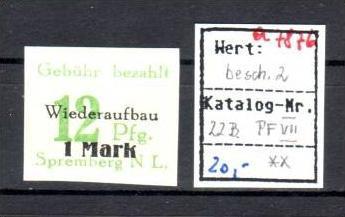 Spremberg Nr.   22B   VII  ** (a7876 ) siehe scan