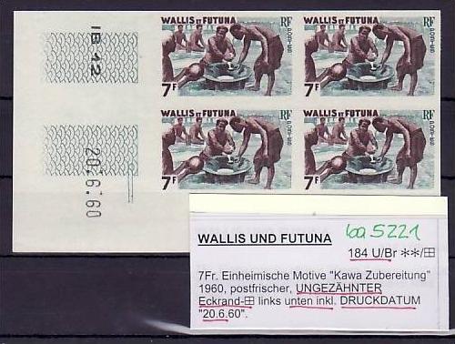 Wallis & F.  Nr.  4x 184  U/Br        ** rare  (ba 5221 ) siehe scan