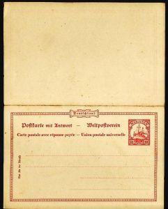 Marianen- Ganzsache -Doppelkarte   (ba5290  ) siehe scan