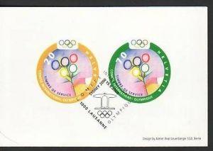 Schweiz MH Olympia  Sonderstempel     (ba 5169    ) siehe scan