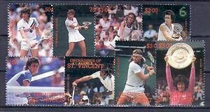 St. Vincent 8 Werte Tennis  **/MNH  ( e6772 ) siehe scan
