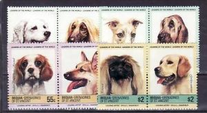 Grenadines/St.Vincent  8 Werte  Hunde     **/MNH  ( e6782 ) siehe scan