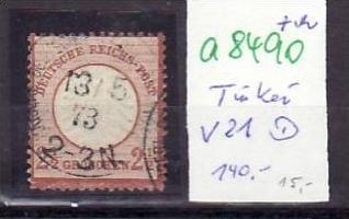 D.-Post in der Türkei  Nr. V21    o ( a8490 ) siehe scan vergrößert !!