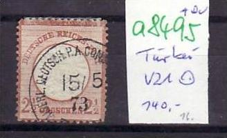 D.-Post in der Türkei  Nr. V21    o ( a8495 ) siehe scan vergrößert !!