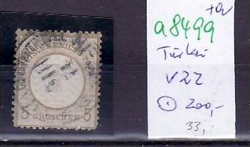 D.-Post in der Türkei  Nr. V22   o ( a8499 ) siehe scan vergrößert !!