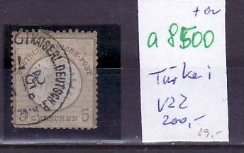 D.-Post in der Türkei  Nr. V22   o ( a8500 ) siehe scan vergrößert !!
