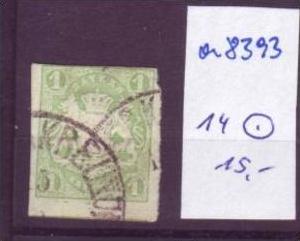 BAYERN  Nr.  14  o (a8393 ) siehe scan-vergrößert