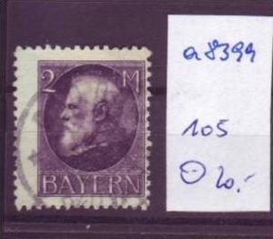 BAYERN  Nr.  105  o (a8399 ) siehe scan-vergrößert