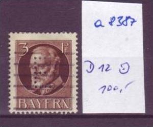 BAYERN  Nr.  D12      o (a8387 ) siehe scan-vergrößert