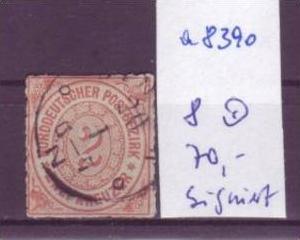 Norddeutsche Post Nr.  8     o (a8390 ) siehe scan-vergrößert