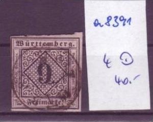 Würtemberg  Nr.  4    o (a8391 ) siehe scan-vergrößert