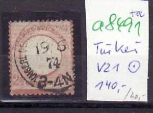 D.-Post in der Türkei  Nr. V21    o ( a8491 ) siehe scan vergrößert !!