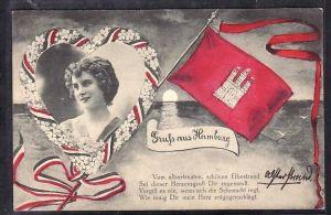 Hamburg /befördert 1915   -alte Karte (ba5720 ) siehe scan