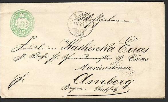 Schweiz Ganzsache Tübli  1875    (ba5956 ) siehe scan