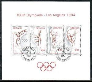 Monaco Block  olympia  84(zz1322 ) siehe scan