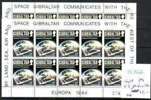 Cept -Gibralta KB 1984  **  (zz1447 ) siehe scan