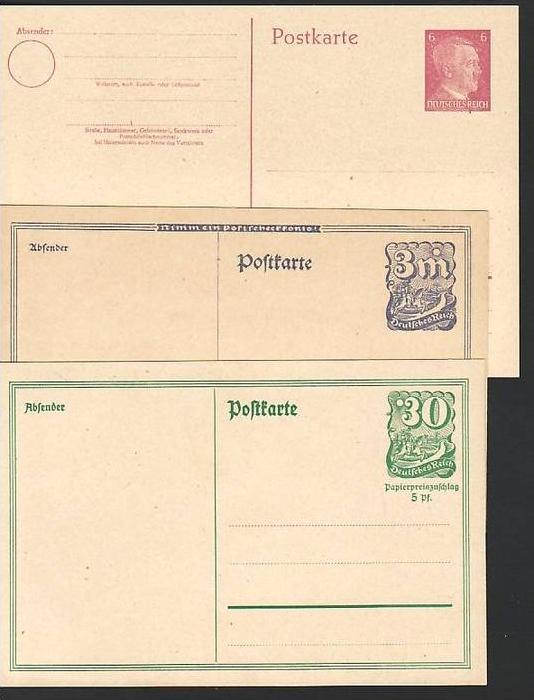 D.-Reich Lot  5 Ganzsachen     ( ba6138 ) siehe scan