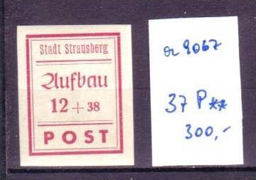 SBZ-Strausberg Nr. 37 P ** Probedruck ! ( a9067 ) siehe scan